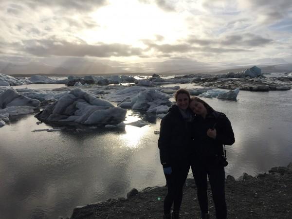 My sister and I at Jökulsárlón