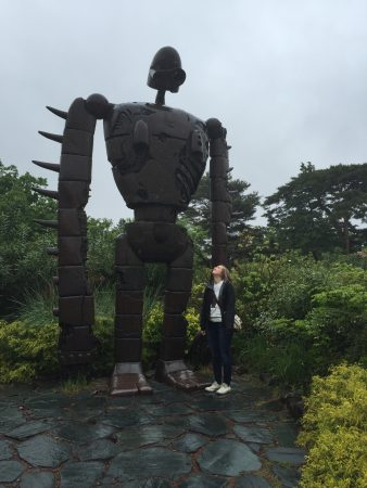 In Tokyo at the Miyazaki Museum. :D